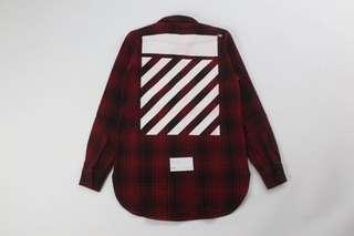 Off-White Tartan Flannel