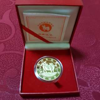 2009 Year Of Cow Gold Coin