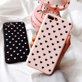 •brandnew• Iphone 6, Iphone 6s TPU Soft Case Heart Shaped Pink
