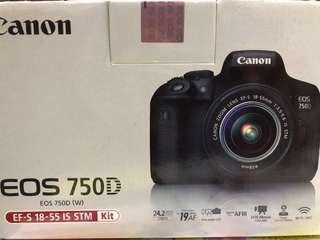 🚚 Canon 750D 含18-55 鏡頭 少拍 功能正常 附包包+記憶卡32G 可議價