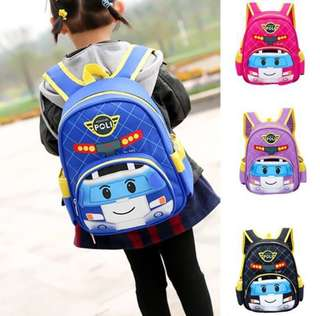 Robocar poli Kids School Bag kids backpack (PO)