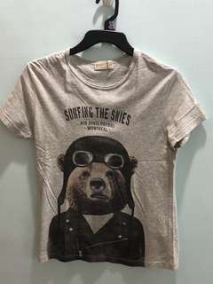 Zara Gray Bear Shirt