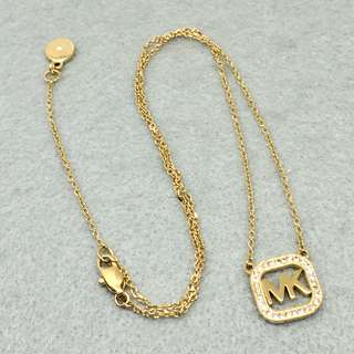 Michael Kors Sample Necklace 金色方形logo頸鏈