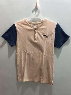 Zara shirt with blue sleeves