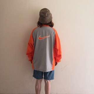 🚚 Nike大logo橘灰配色風衣外套❤️任選賣場兩件減100✨古著復古vintage