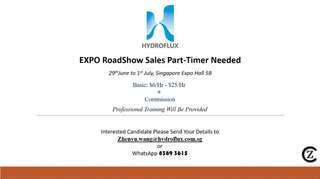 Expo Roadshow Full/Part-Timer Sales