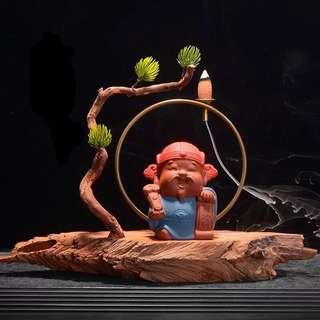 God of Wealth Backflow Incense Burner 财神爷倒流香炉