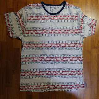 H&M Aztec Tribal Print Shirt Tee T-shirt