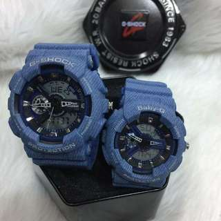 GSHOCK & BABY G COUPLE MEDIUM DENIM