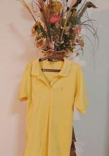 pastel yellow polo