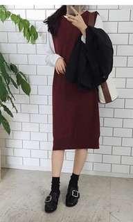 🆕红色针织背心裙