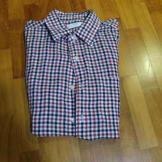 Chequered Uni Qlo Short Sleeve Tee Shirt