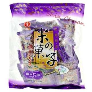 台灣 米之果子紫米口味 300g
