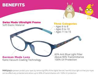 BUY 1 FREE 1💥Anti Blue Ray Eyewear for Kids💥TAIWAN TECHNOLOGY👓
