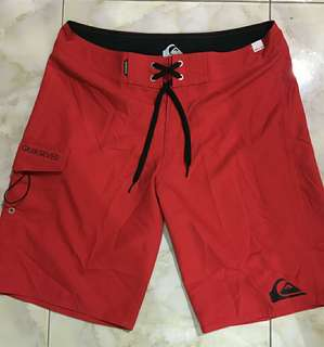 QUIKSILVER boardshort celana pendek surfing Red
