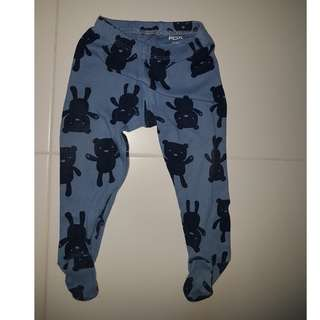 Fox Kids Long Pants with Feet Cover (6mths)