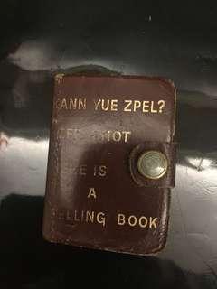 Rare leather English dictionary
