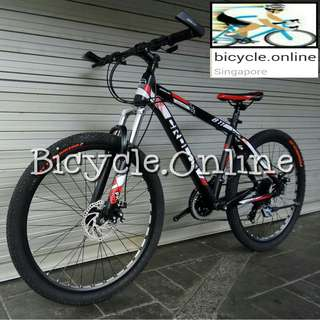 "CROLAN Aluminum Mountain Bike / MTB ✩ 26"" 24 Speeds, Disc Brakes, front suspension ✩ Brand new bicycles"