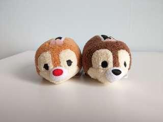 🚚 Disney 正版 奇奇蒂蒂 chipndale tsum 螢幕擦 娃娃 兩隻合售