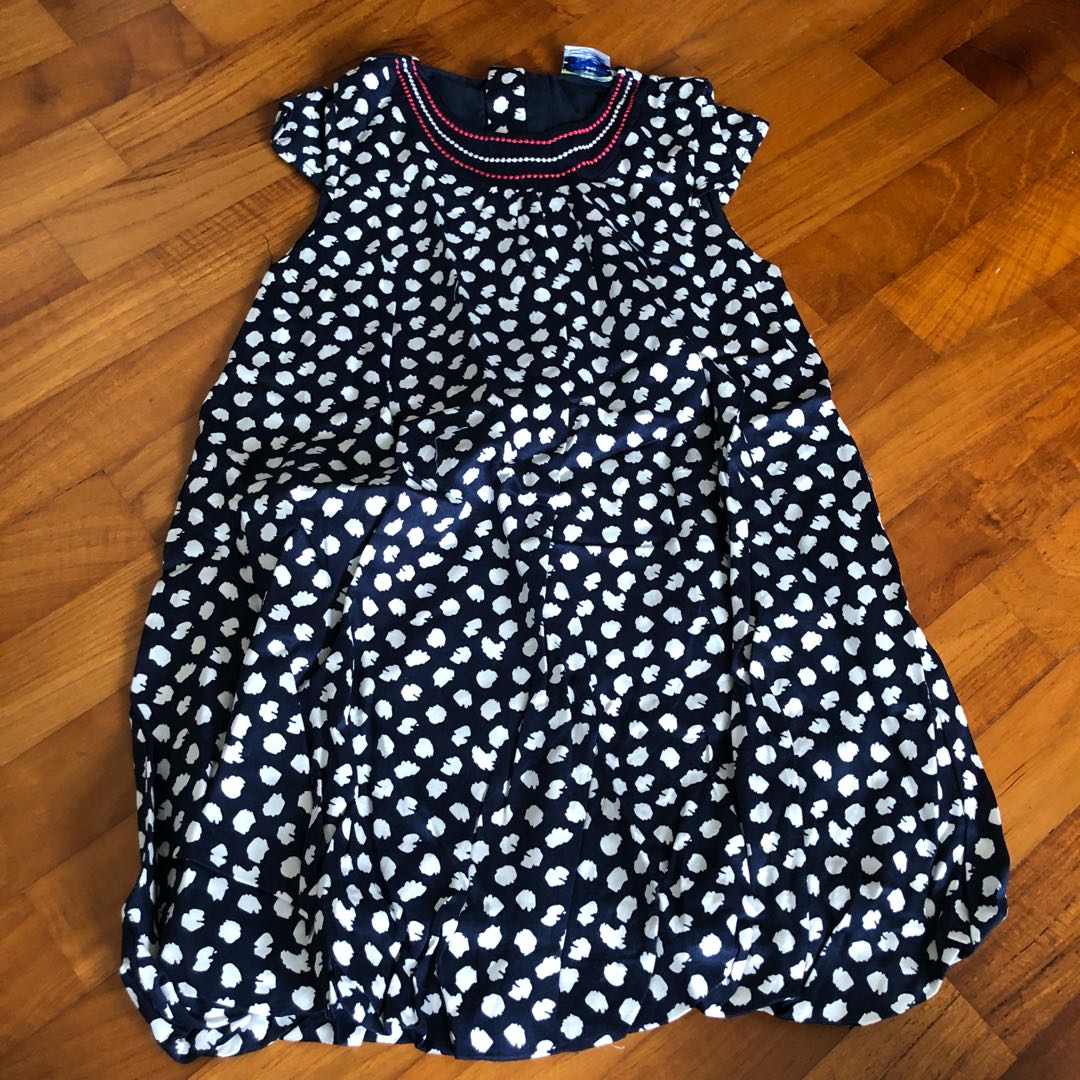 7351a9700fb7 3T NEW TAO Dotty Blue Dress Toddler