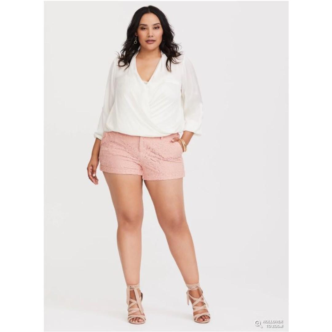Plus Size Lace Shorts Bnwt Hot Pink Womens Fashion