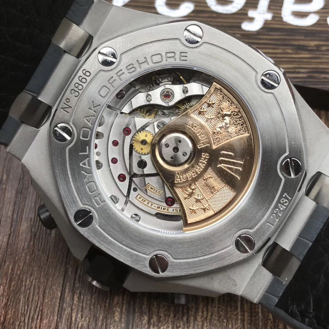 Audemars Piguet Royal Oak Offshore 26470st Stainless Steel Gray Jam Tangan Safari 42mm Theme On Leather Strap A3126 Luxury Watches Carousell