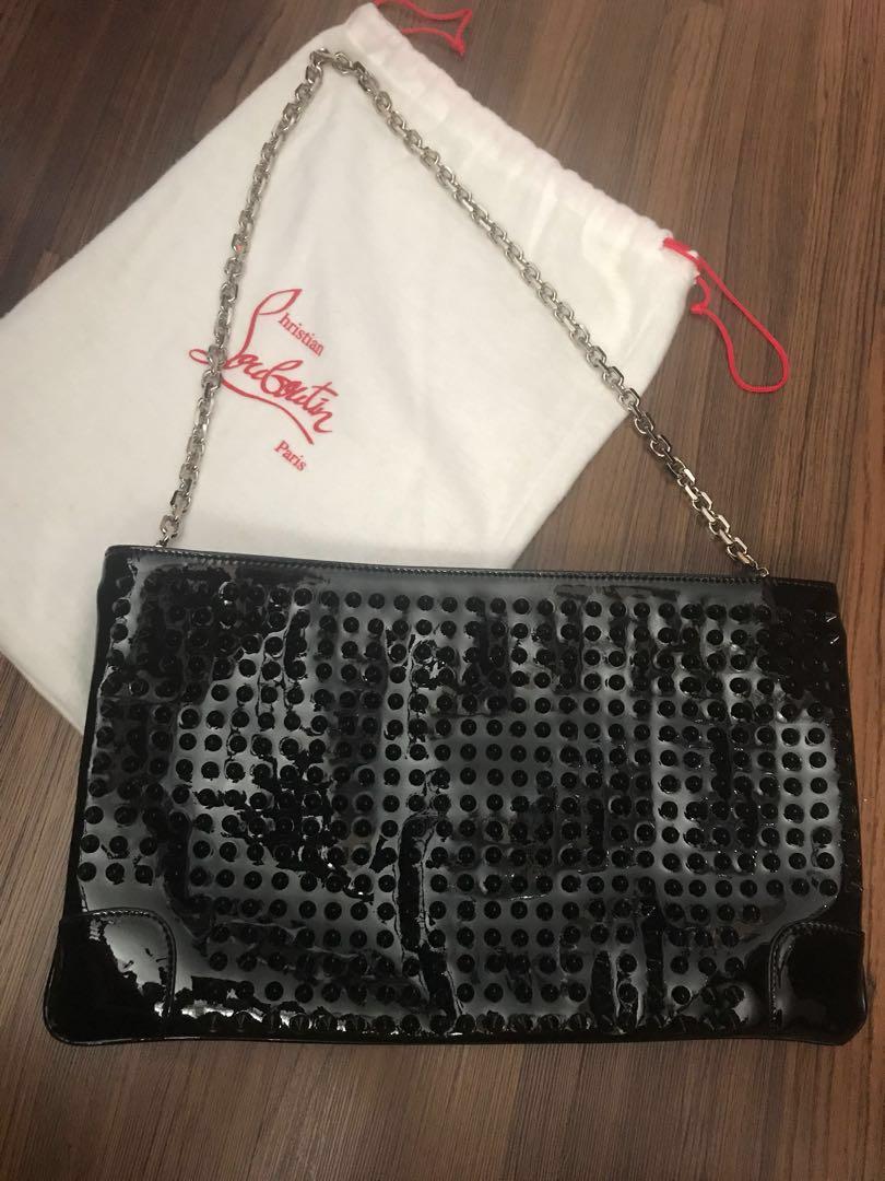 092d6fdcf80 Authentic) Christian Louboutin Clutch Bag, Women's Fashion, Bags ...