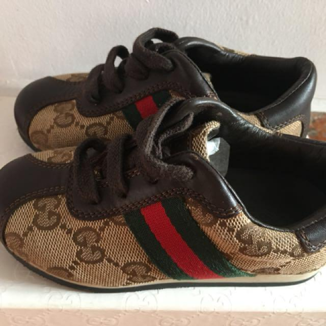 505a4062 Authentic Gucci Shoe for Baby ( Size 23 ), Luxury, Shoes on Carousell