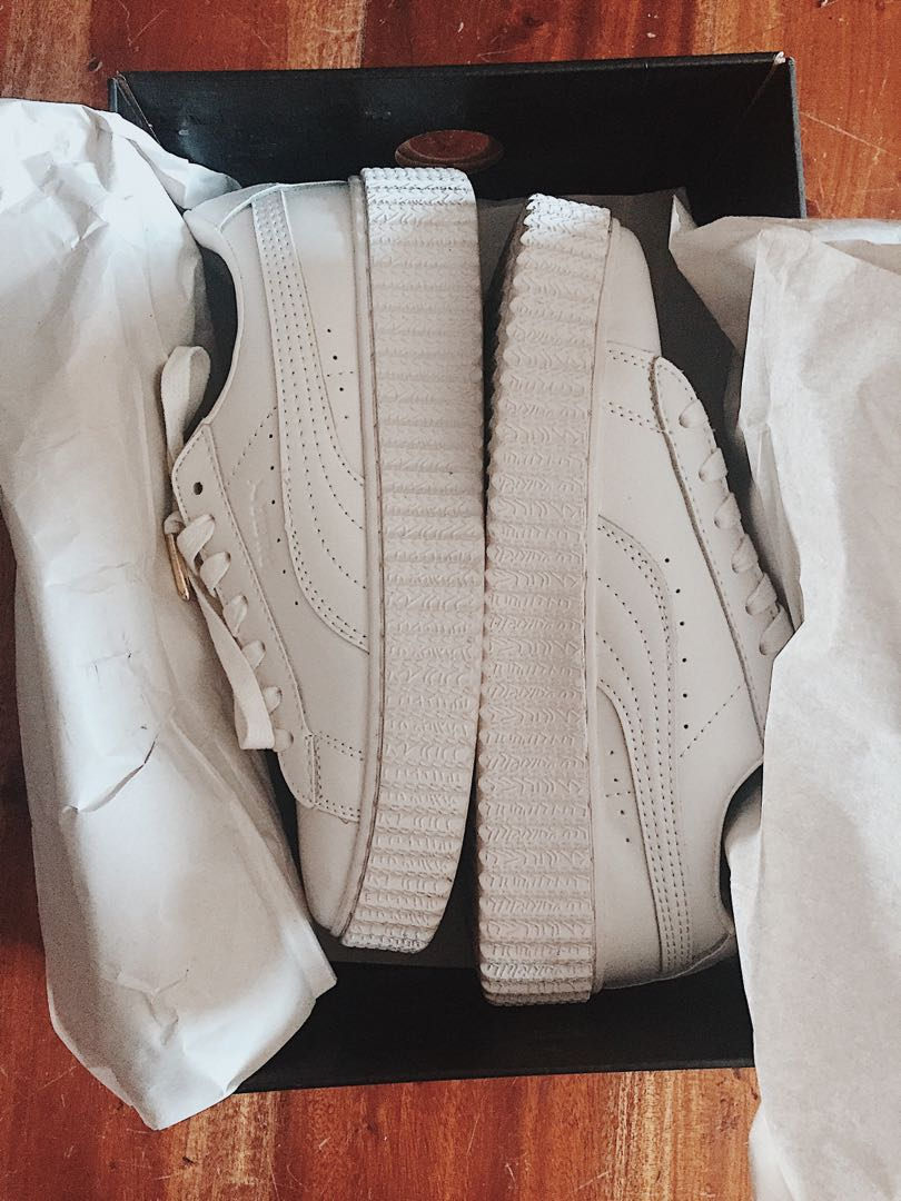 Authentic Puma fenty creepers all white f34c72e71