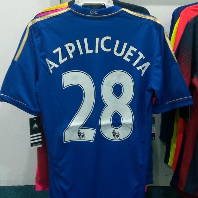 new product 7a2e7 335fc Azpilicueta Chelsea 2012/13 Home Kit M Size