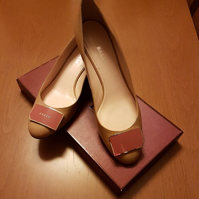 865e584412c Brand New Bally size 40 calf leather Heline Beige 1 inch heel ...