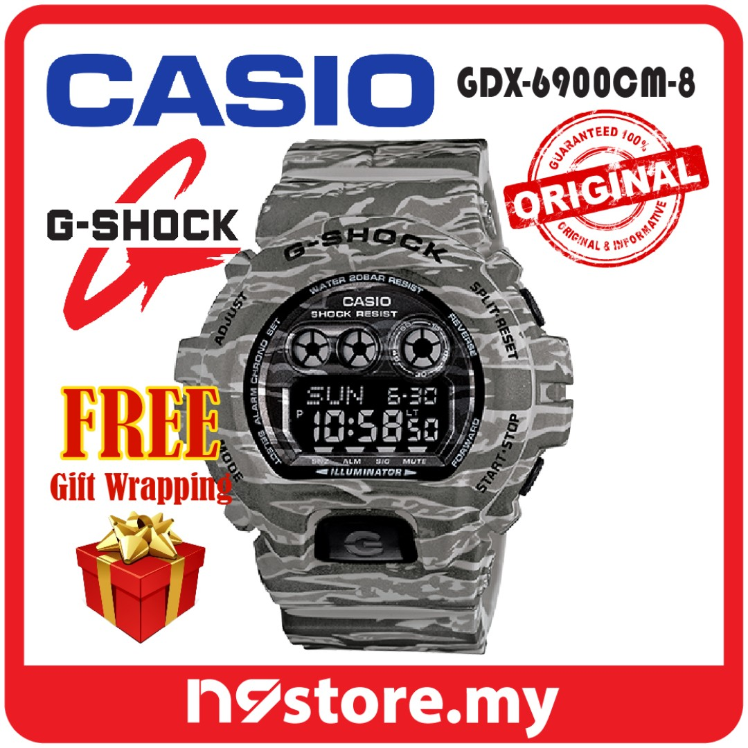 CASIO G-SHOCK GDX-6900CM-8 DIGITAL MEN CAMOUFLAGE ARMY COLOR SPORTS WATCH JAM  TANGAN bb6e4ef8a9