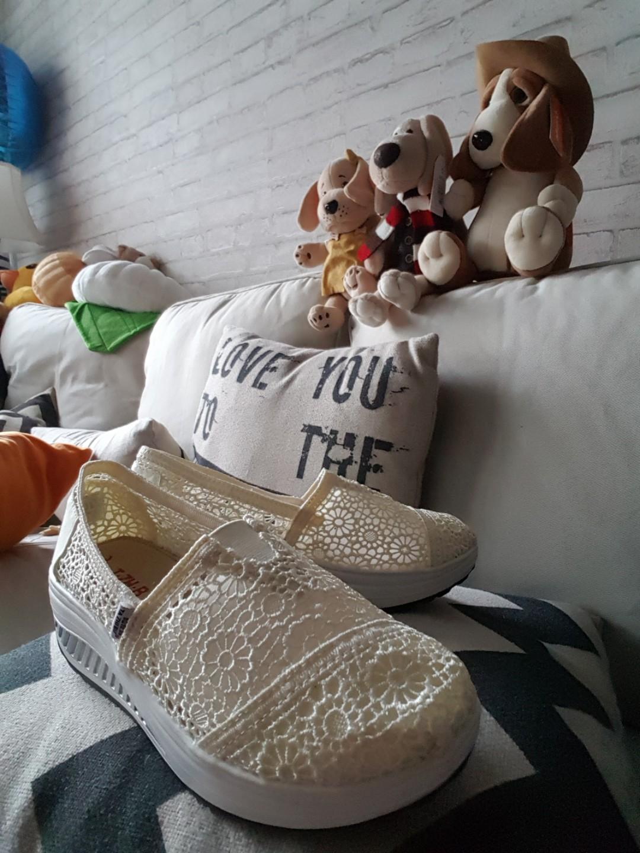 91e3b662e cream morrocan crochet lace comfort platform shoes