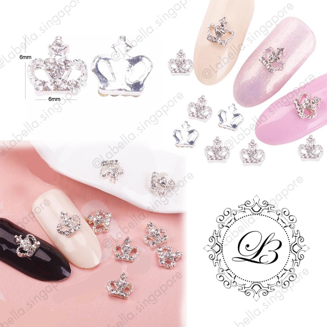Glitter Rhinestones Silver Crown Crystal 3D 1a91e5b8cd07