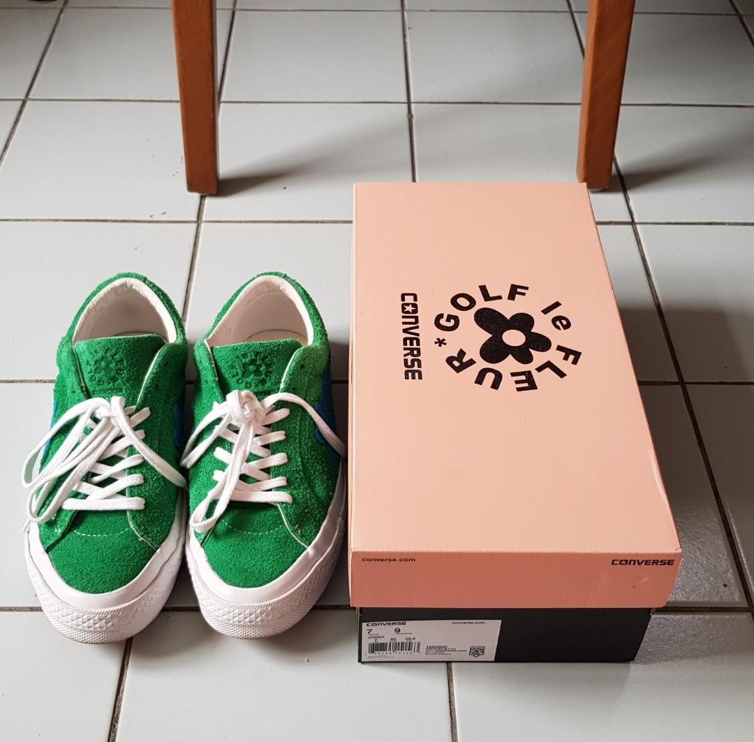 35a0786405 Golf le Fleur x Converse One Star Jolly Green UK7