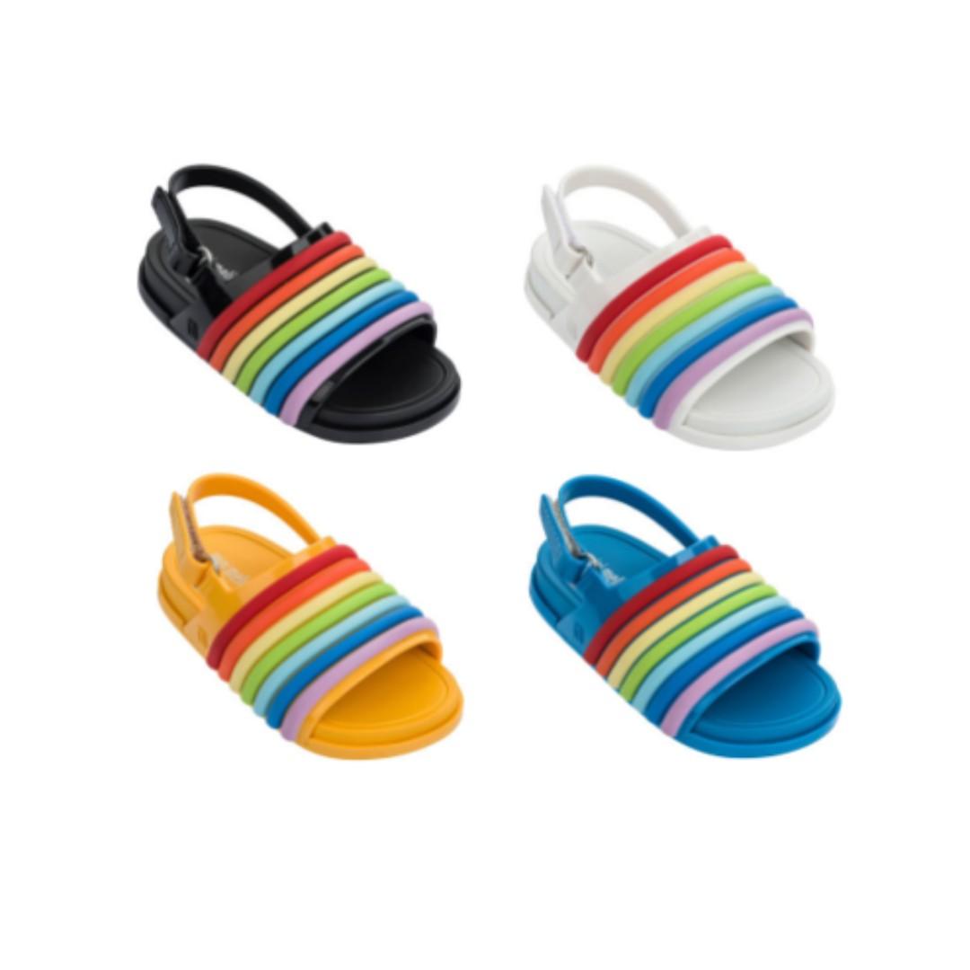 5c3c0b8189b9 GSS - Mini Melissa Beach Slide Sandal Rainbow