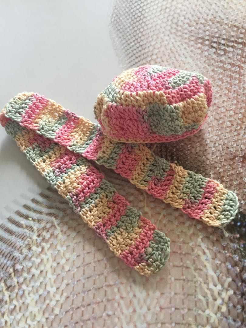 Handmade Crochet Hat And Scarf For Dolls Sindy Barbie Toys Games