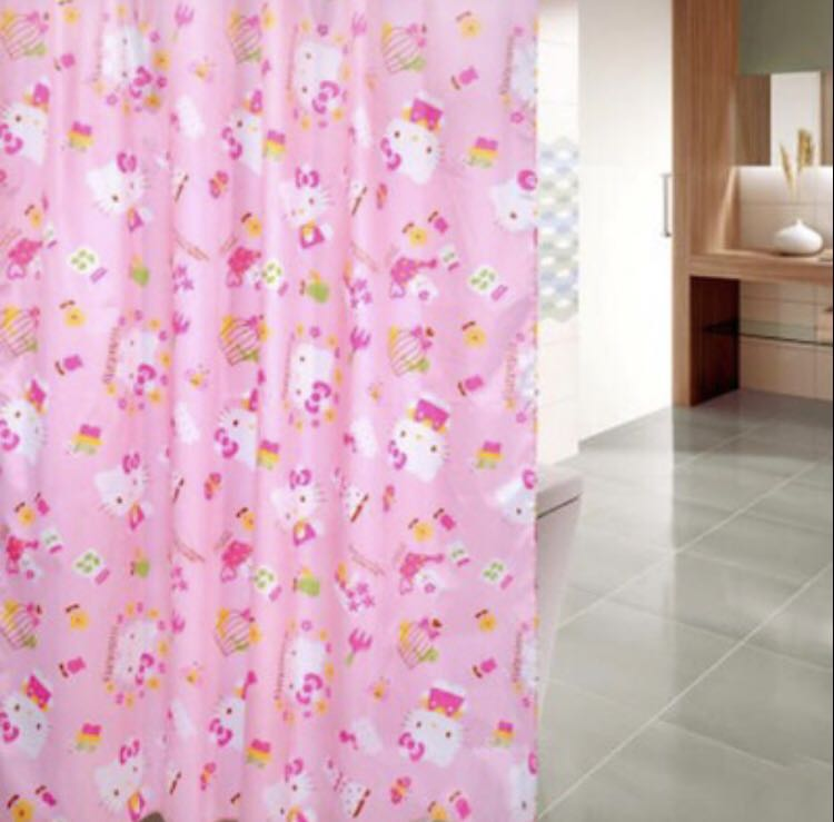Hello Kitty Shower Curtain Everything Else On Carousell