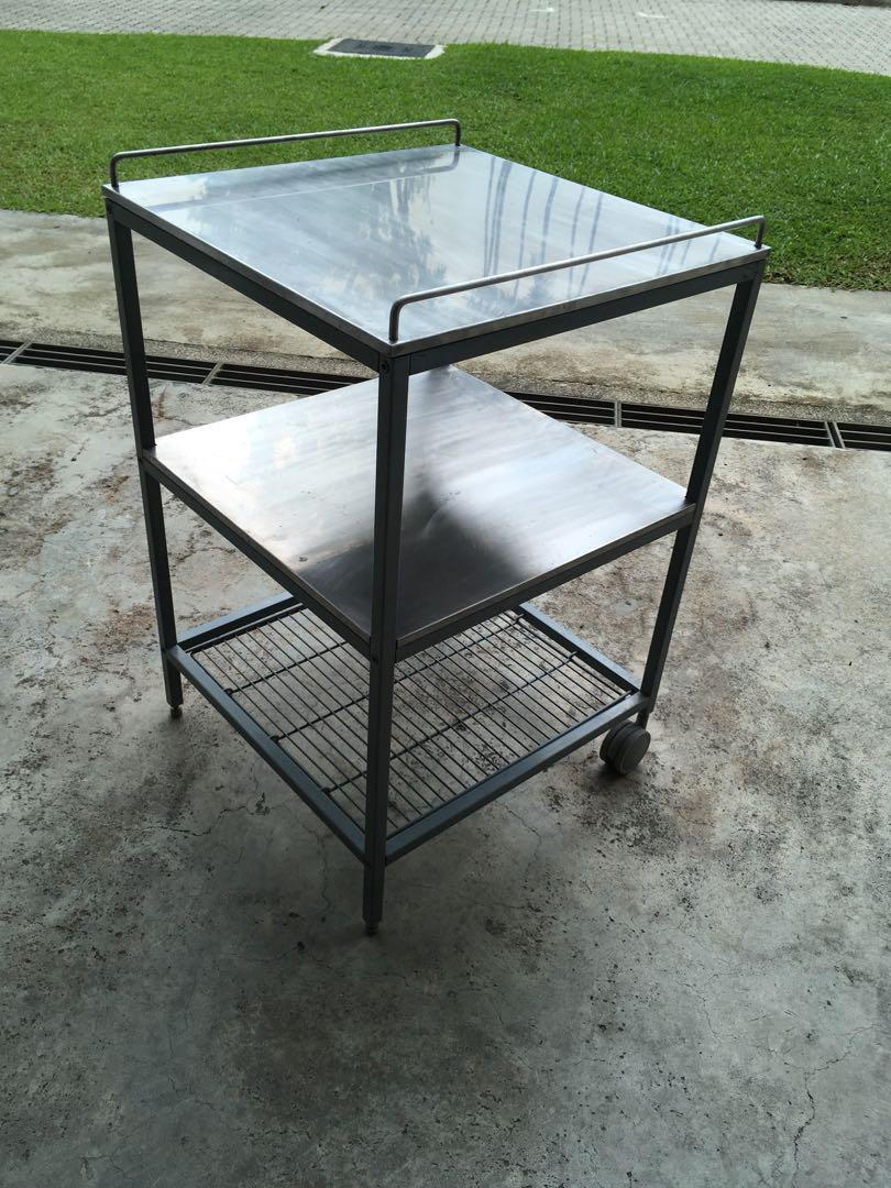 Ikea Stainless Steel Kitchen Trolley Udden Furniture Tables Chairs On Carousell