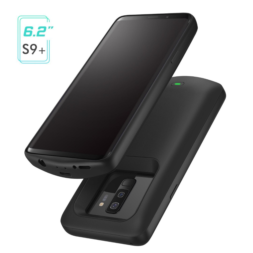 promo code 95dee 18a4d [IN-STOCK] Galaxy S9 Plus Battery Case, MoKo 5200mAh External Rechargeable  Power Charger Case, Soft TPU Full Edge Protective Battery Cover for Samsung  ...