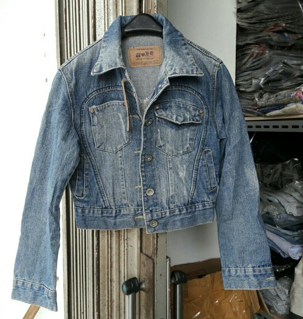 Jaket 21 Import Blazer Fashion Keren Top Kerah Jeans Levis Wanita Cewe Muslimah Cewek Olshop On Carousell