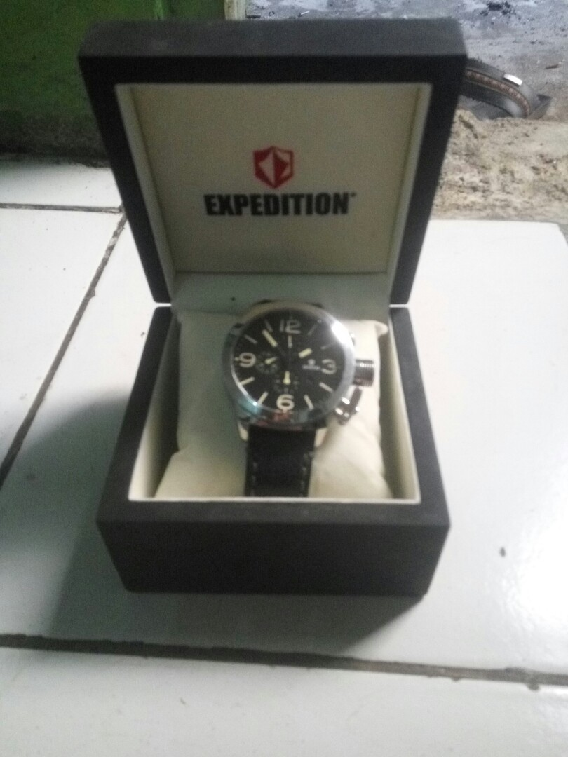 Harga Jual Jam Tangan Expedition Bekas 850000 Harley Davidson Hd Pria 6631 Black Orange Triple Time Original E6339m Preloved Fesyen Di