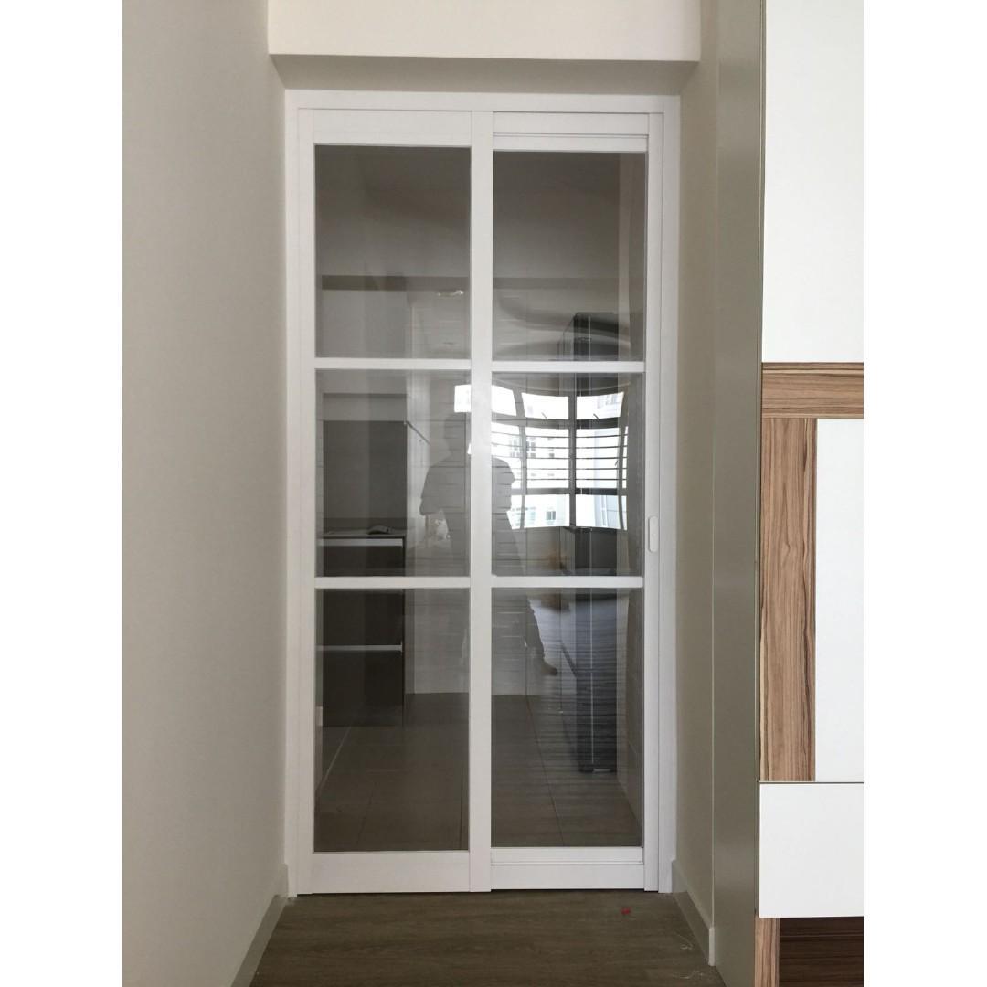 Kitchen Slide Swing Door Within 3x7ft Furniture Home Living Furniture Other Home Furniture On Carousell