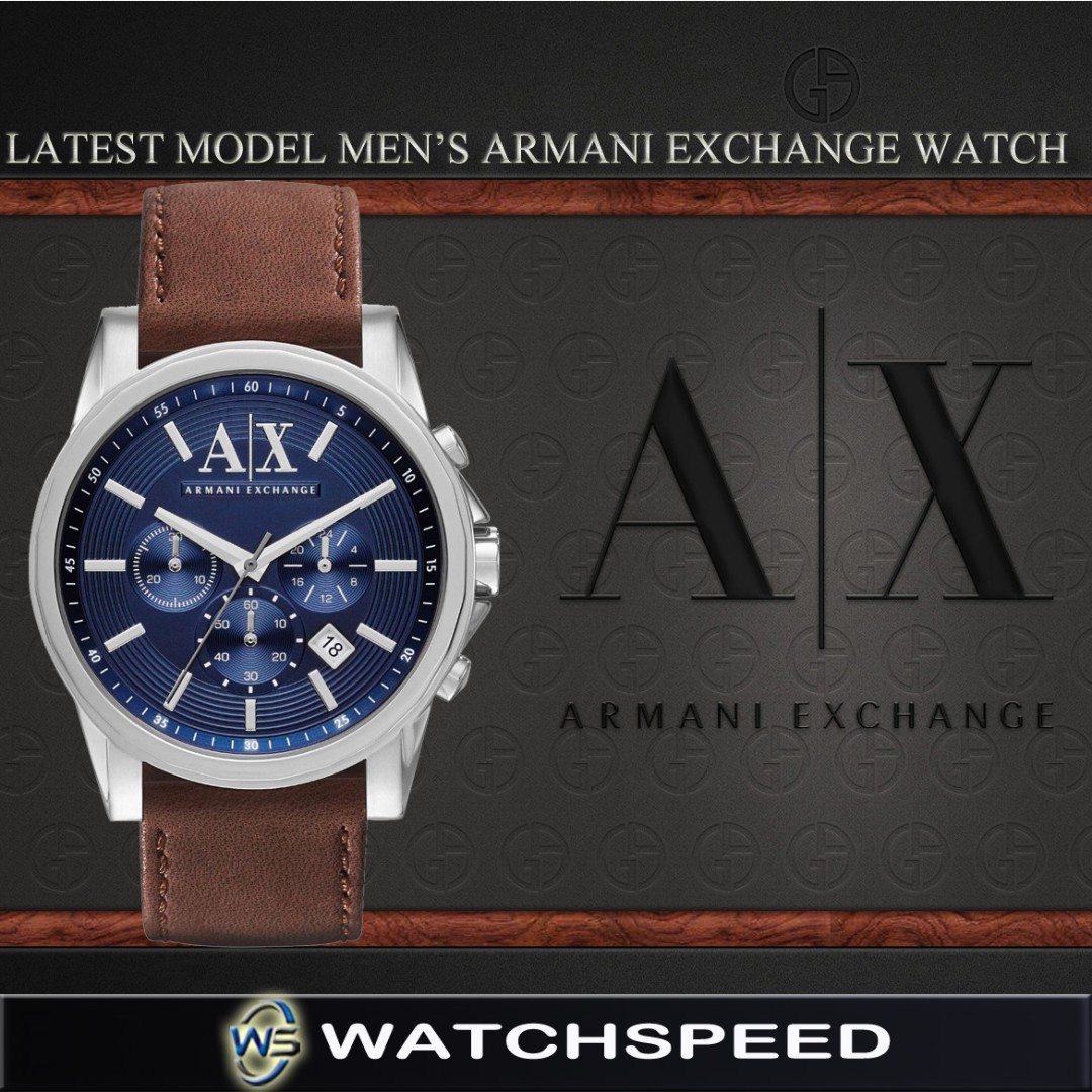 LATEST  Armani Exchange Men s Chronograph Stainless Steel Watch AX2501 f48a23f9a33a5