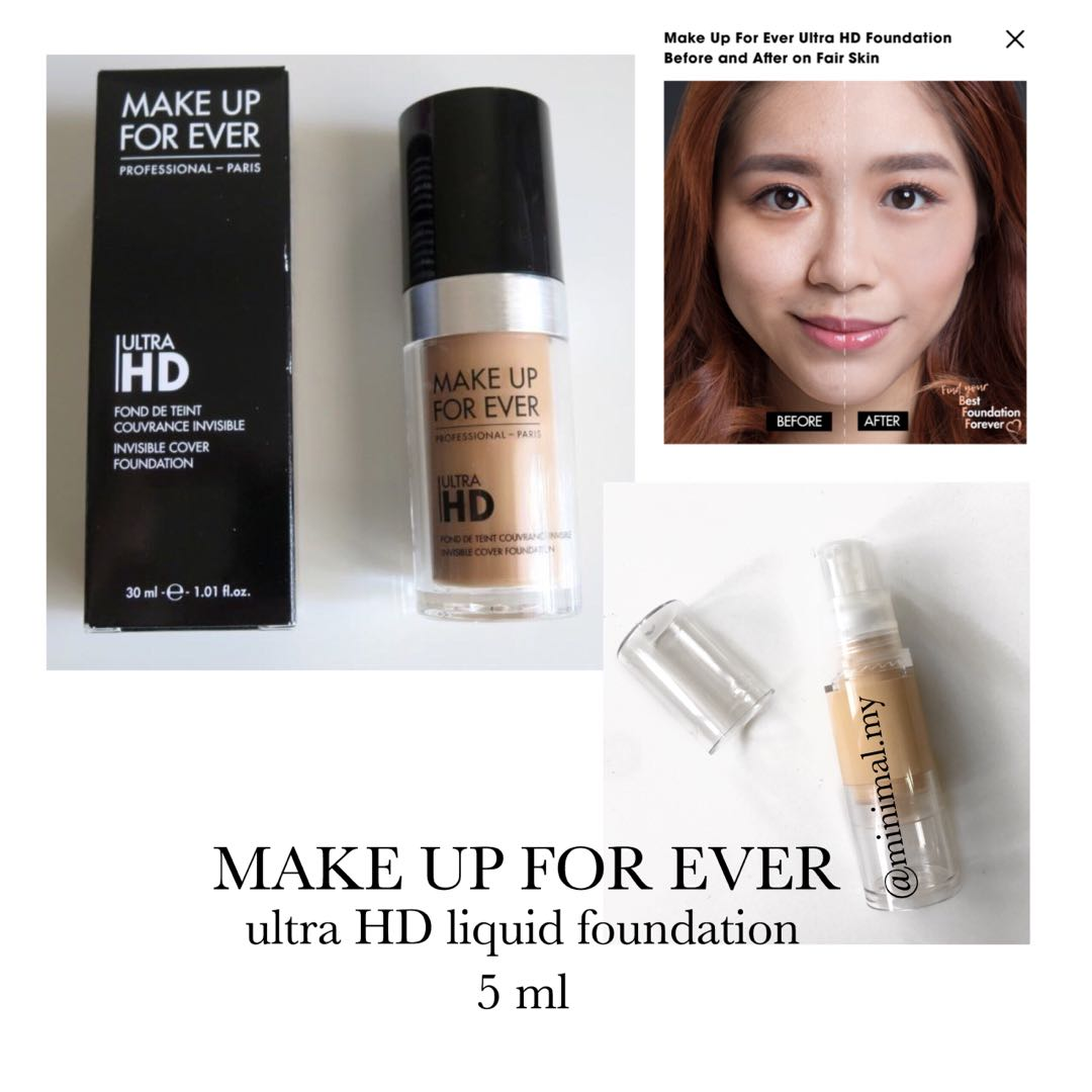 340f41950025 Make Up For Ever - ultra HD liquid foundation (trial), Health & Beauty, Makeup  on Carousell
