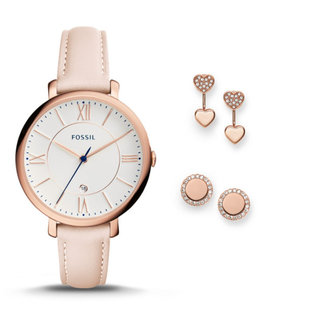 Jual Jam Tangan Fossil Original Di Malaysia Welcome To Www Wanita Es3988 Jacqueline Blush Leather Ready Stock From 100 Three Hand Date Watch And Jewelry