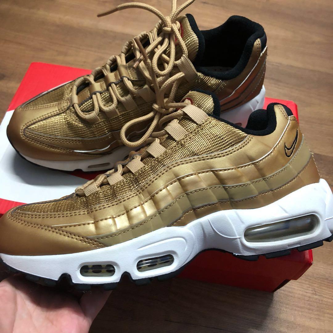 buy online 252cb d5de1 ... purchase steal nike air max 95 gold premium qs mens fashion footwear  48260 27abd