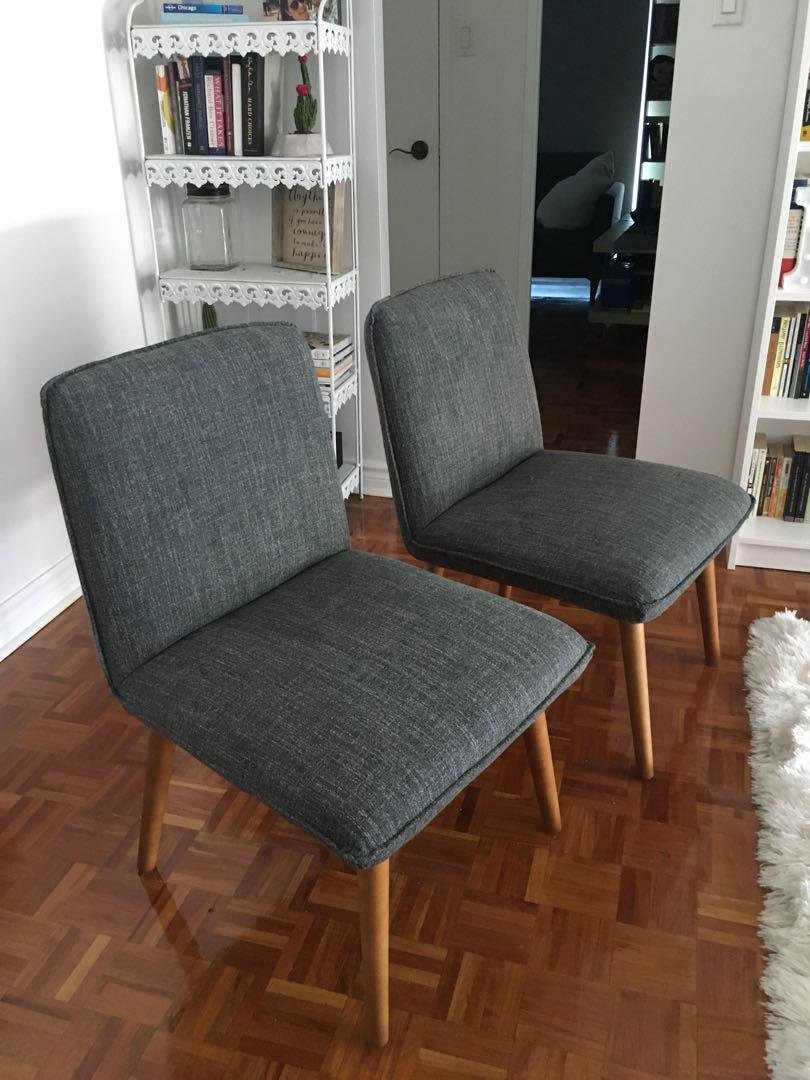 Structube Chairs - Set of Two - $150 total for the pair