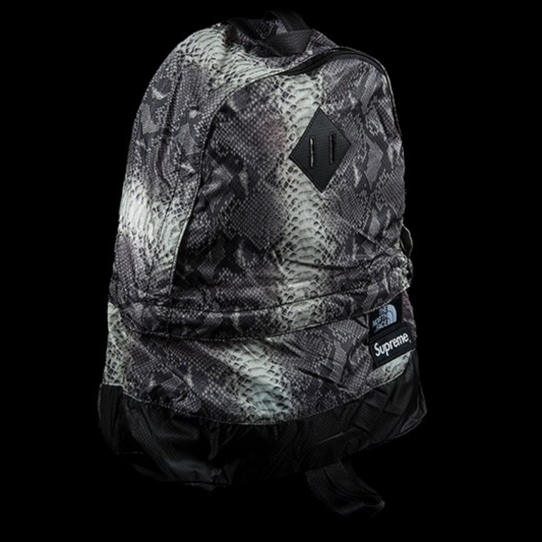 f5db8b51a67 Supreme The North Face Snakeskin Lightweight Day Pack Black, Men's ...