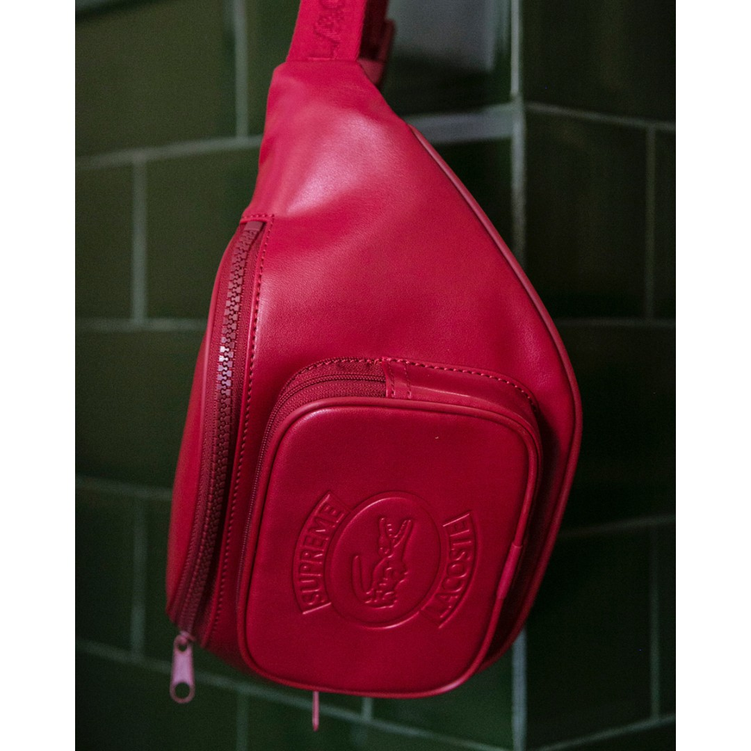 ae198e6b6032 Supreme x Lacoste Waist Bag (Red) SS18 W9